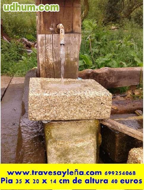 Se venden pias fregaderos de piedra for Fregaderos para jardin