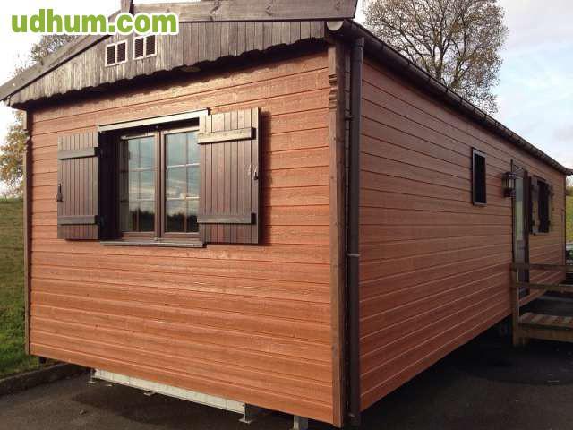 Casa de madera canexel 12x4 m 2 hab - Canexel casas de madera ...