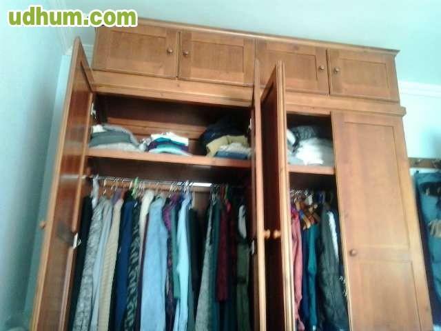 Dormitorio completo comoda armario mesa for Dormitorio completo con armario