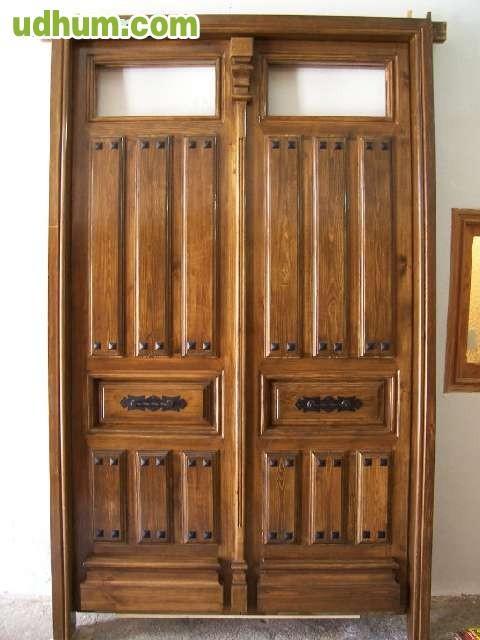 Puertas rusticas de madera para exterior for Colores para puertas exteriores