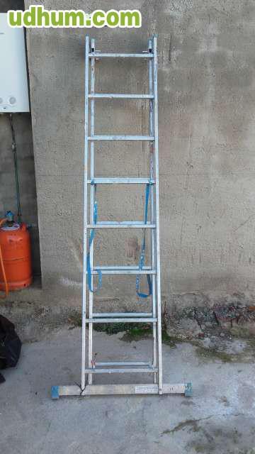 Escalera dos cuerpos aluminio extensible - Escalera de aluminio extensible ...