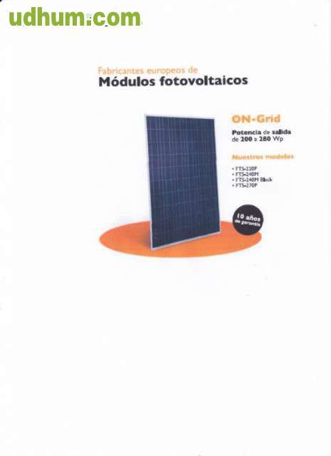 Instalaciones solares fotovoltaicas editex