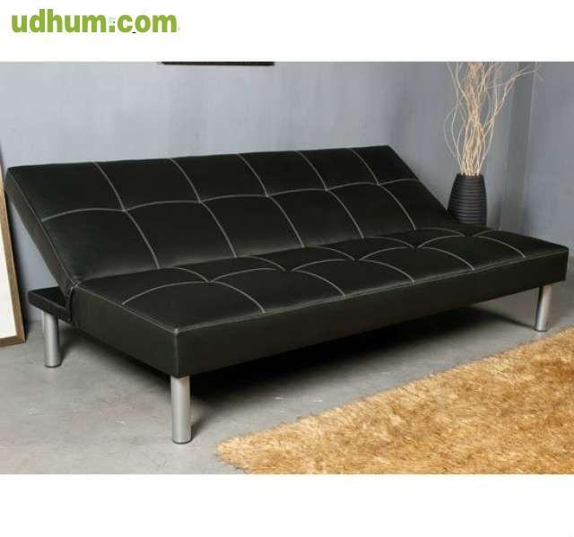 Sofa cama plegable 178x79x84 piel nuevo for Sofa cama plegable