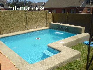 Piscina de gunite en hormigon for Precio piscina obra 8x4