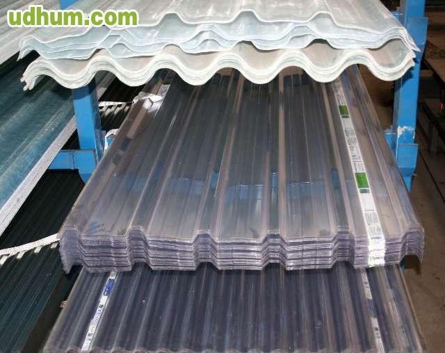 Chapas onduladas trapezoidal for Plastico para tejados