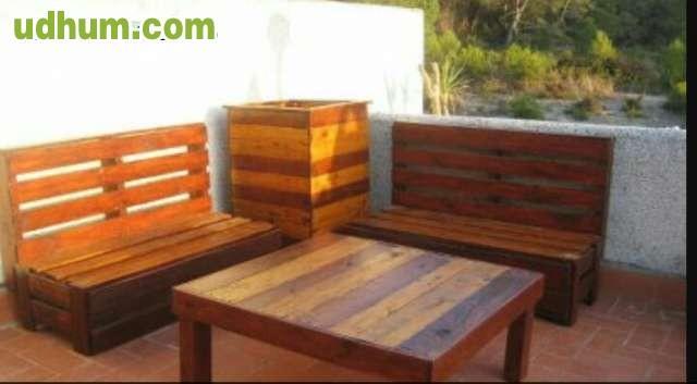 Muebles de cocina y decoracion de palets for Muebles con palets para terraza