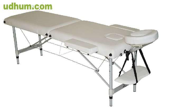 Camilla 2 cuerpos aluminio plegable for Mesa plegable 3 cuerpos