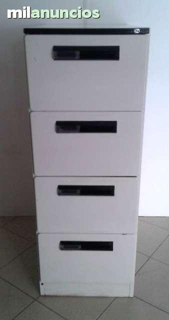 Archivadores 4 cajones met licos oficina for Cajonera metalica ikea