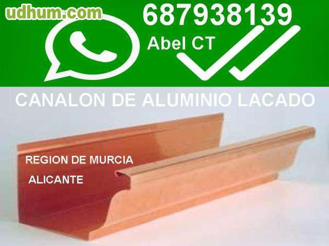 canalones aluminio murcia desde 12