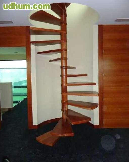 Escalera caracol madera cerezo - Escaleras caracol baratas ...