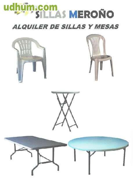Alquiler sillas mesas hinchables carpas 2 for Alquiler mesas sillas