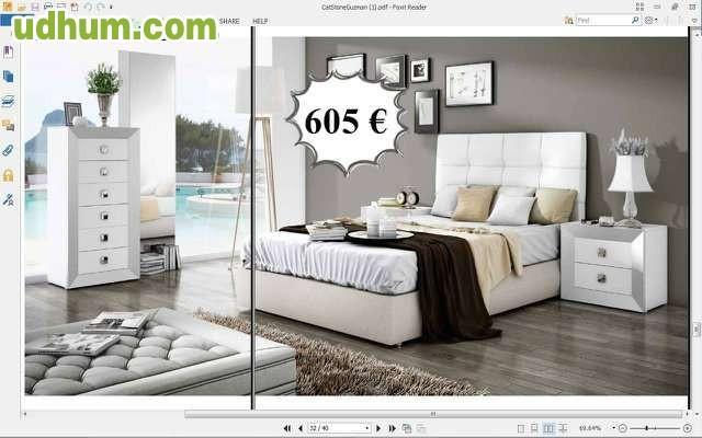 Dormitorio matrimonio blanco barato 614 for Dormitorio wengue y plata