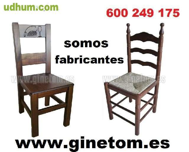 Mesas de madera economicas for Sillas economicas de madera
