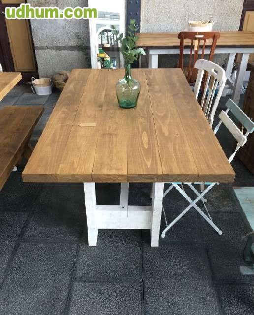 mesa de comedor a medida madera maciza