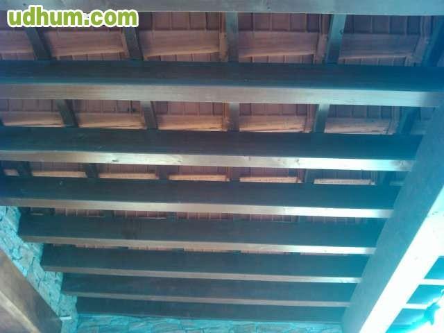 Tejados de madera y casas de madera for Tejados de madera prefabricados