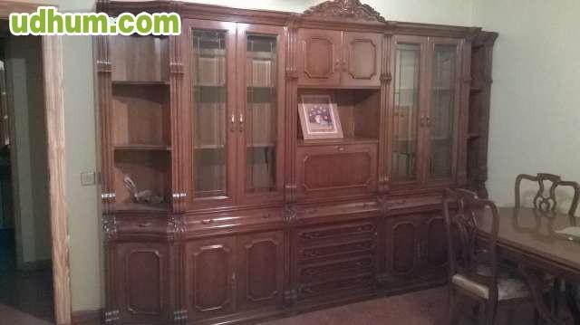 Mueble antiguo de comedor mesa y 6 sil for Muebles de comedor antiguos