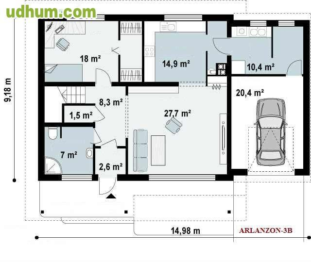 Se construyen chalets a medida 1 for Planos de viviendas unifamiliares