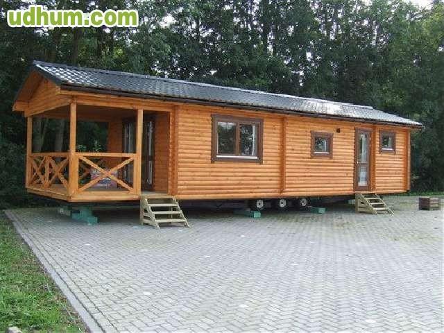 Terrazas para mobil homes de madera for Porches de ocasion
