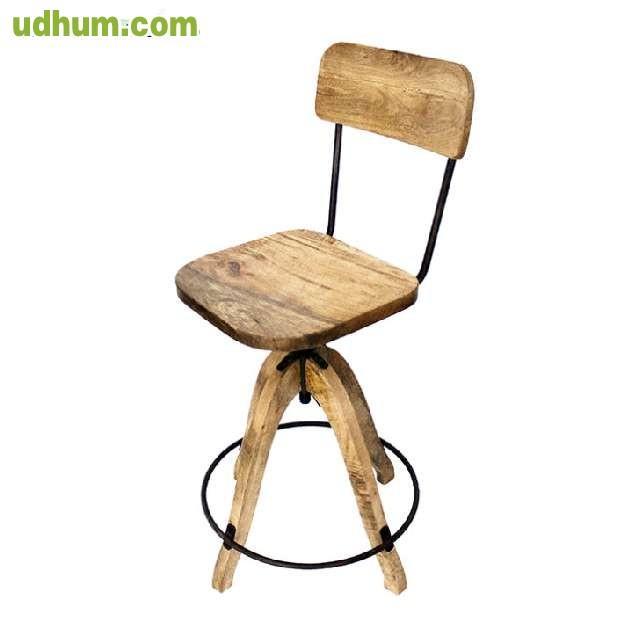 Taburete en madera regulable oasis - Taburete madera regulable ...