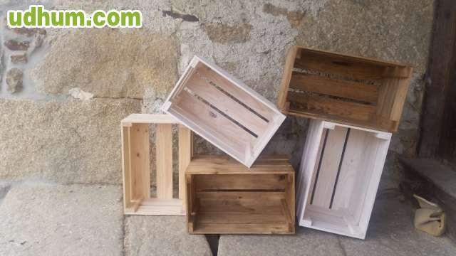 Muebles rusticos con cajas de madera for Muebles con cajas de madera