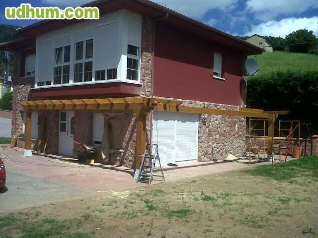 tejados de madera y casas de madera