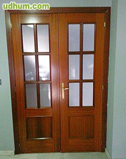 Puertas dobles de paso madera maciza for Puertas de madera maciza
