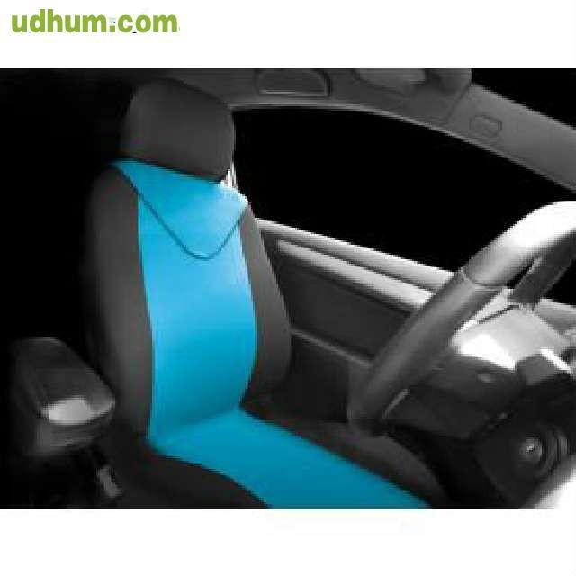 funda textil asientos azul negro. Black Bedroom Furniture Sets. Home Design Ideas