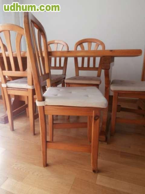 Muebles de sal n mesa sillas y auxiliar for Mesas extraibles salon