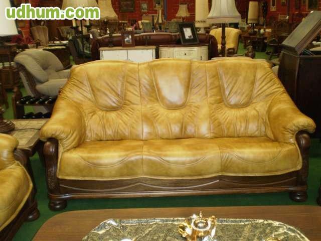 Sofas piel y madera piel y tela romueble - Sofas gijon ...