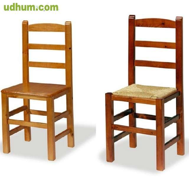 Silla de madera castellana for Fabrica sillas madera