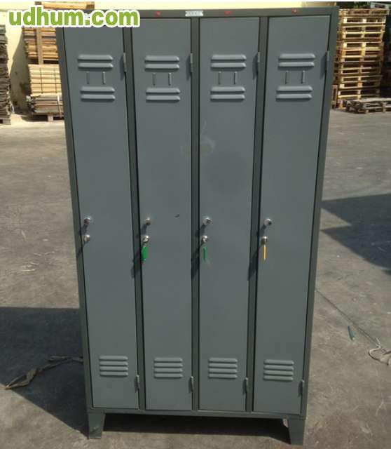 Taquilla usada en metal 4 puertas Puertas metalicas usadas