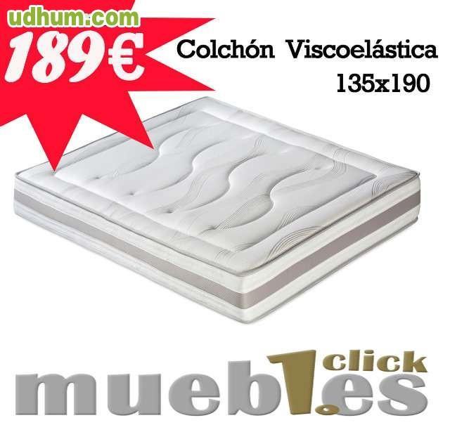 Colch n viscoel stica 189 - Muebles1click madrid ...