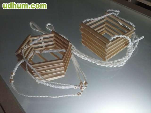 2 colgadores de macetas de madera - Colgadores de macetas ...