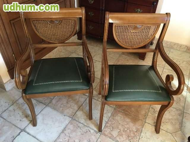 Escritorio y 2 sillas de madera de roble for Sillas de escritorio de madera
