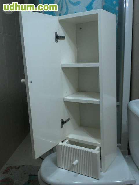 Armario Baño Blanco Lacado:Armario de baño comprado hace poco, lo vendo por no necesitarlo en mi