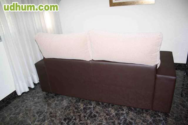 Sofa para tres plazas en tela y piel - Sofa para tres ...