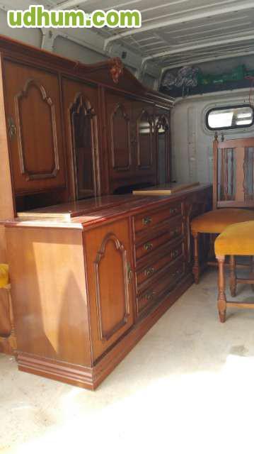 Mueble de comedor antiguo 6 sillas for Muebles de comedor antiguos