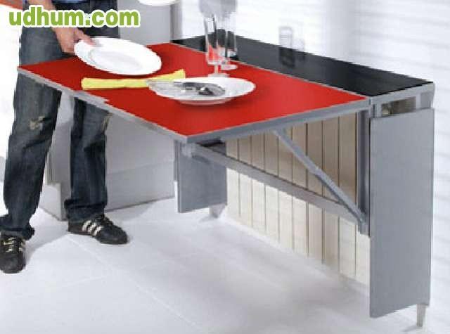 Mesa de cocina abatible nueva for Mesa abatible pared cocina