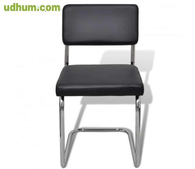 Set de silla de comedor 2 piezas negro d for Set sillas comedor
