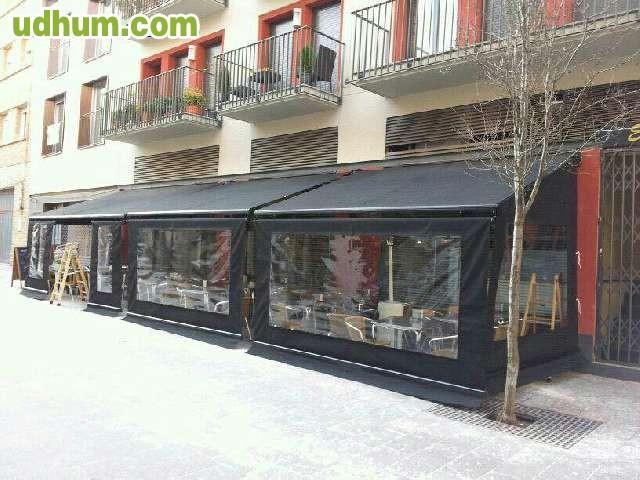 Terrazas bares cortavientos for Toldos cerramientos terrazas