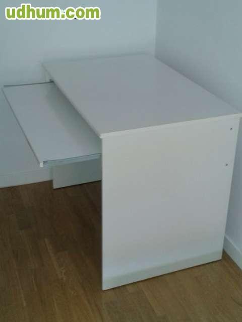 Mesa escritorio ordenador blanca for Mesa de ordenador blanca