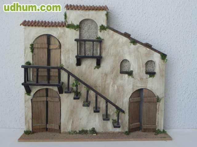 Casa portal de belen de madera - Portales de madera ...