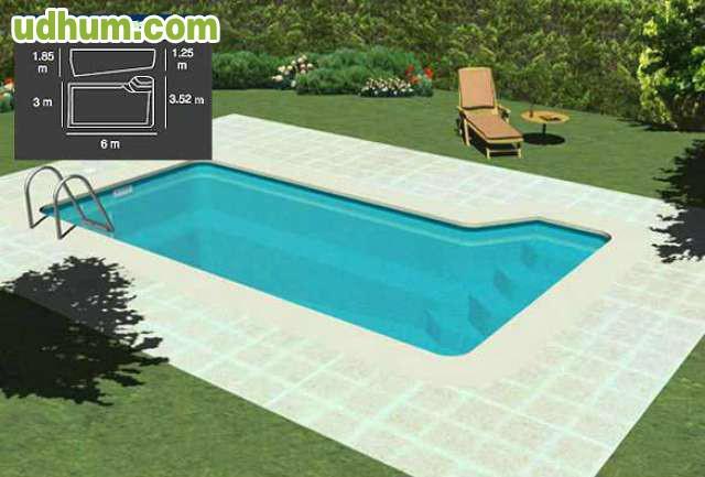 Piscina poliester 6x3 7 599 iva - Precio construccion piscina 6x3 ...
