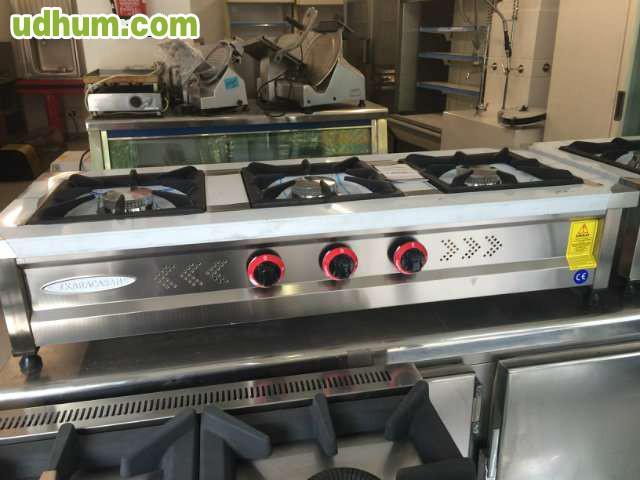 Cocina a gas 3 fuegos industrial nueva 2 for Cocinas a gas nuevas