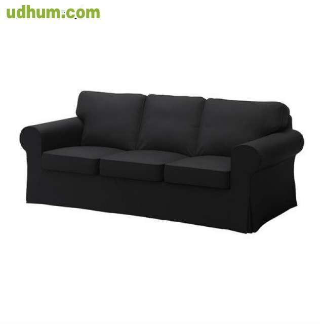 Funda sof negra funda puff ektorp ikea - Funda sofa ikea ...