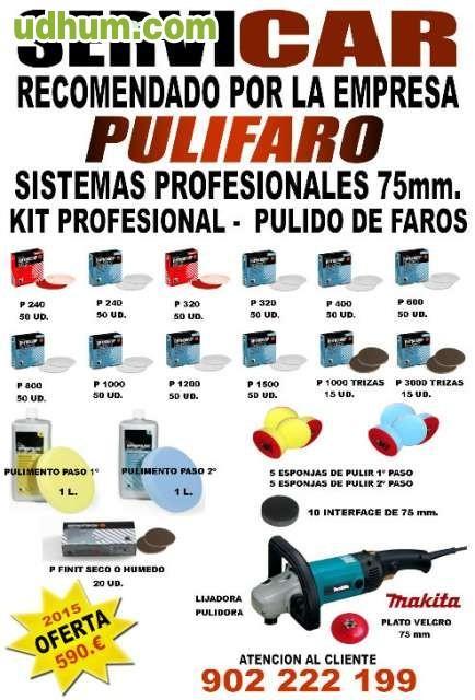 Kit profesionales con maquinas - Kit de pulido de faros ...