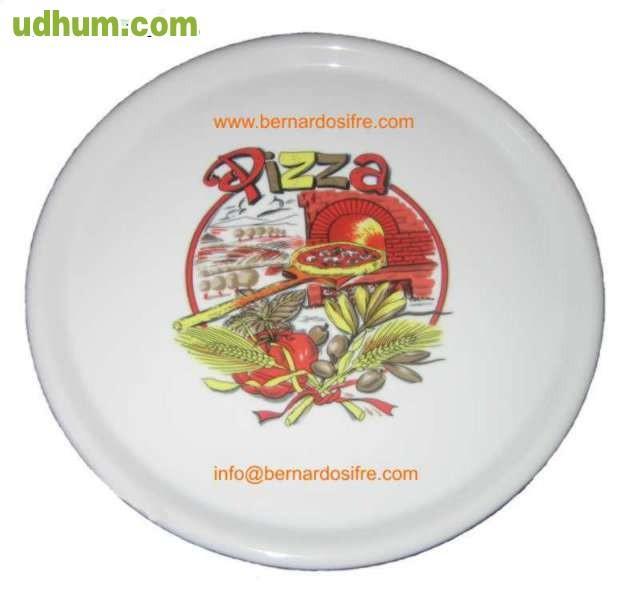 Platos para servir pizzas venta online for Platos de pizza