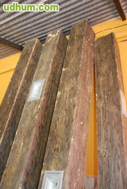 Bigas de imitacion de madera for Imitacion de madera