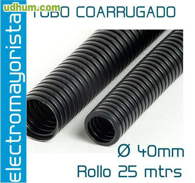 Tubo corrugado negro coarrugado for Tubo corrugado reforzado