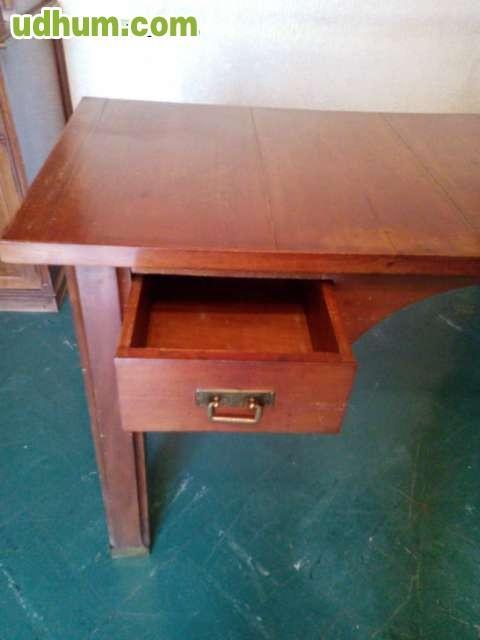 Mesa escritorio de madera clasica - Mesa escritorio clasica ...